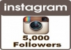 I will give you 5,000 followers on your instagram account  If you want more than 5,000 look at the extra options
