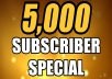 Quality of my YouTube Subscriber.  5000+ youtube subscribers safe and non drop Followers would be from REAL Accounts Receive and delivered quickly in 1-2 days The subscribers will never give up 100% safe Instant start on order confirmation Guaranteed Real users and work around the world SEO friendly & improve your SEO 100% fast polite service Cheapest Offer 5000 subscribers Professional Seller, History Fast delivery, soon to wait