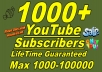 Add 1000+ Real YouTube Subscribers non_drop fast delivery