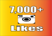 I will give you 7,000 Instagram Photos Likes Fast & Easy! Make your Instagram pictures look very popular with tons of likes! - No Password Needed - No Account Access - 100% Safe & Reliable - Likes Can Be Split to Multiple Pictures - Likes come in fast! Check out other of my Social Media Services!