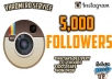 I will give you 5,000 followers on your instagram account All the followers are real and they don't goes down ( refill if drop ) If you want more than 5,000 look at the extra options