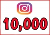 I will give you 10,000 followers on your instagram account All the followers are real and they don't goes down ( refill if drop ) If you want more than 10,000 look at the extra options