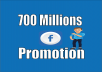 Great service::: 700 Million groups/fan+ 81000 friends huge Facebook promoting exposure and blast Advertising and marketing deal very powerful and effective way.. You can get more views. 100% Guaranteed. Y. People will know it Just by one message. You know this is big part of social media networking & Social media marketing. I can not supply Live Screen Shots.