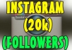 I will give you 20000+ Instagram followers OR Instagram likes. Instagram followers or likes will be making your account popular.  100% FOLLOWERS will have Profile Pictures! I can handle up to 100+ orders/day! Split are available! NO DROP, Guaranteed! They will be stay permanent! Fast and Cheap Service. 100% Safe and Trustable. Fast Delivery , usually finish in less than 24 - 48 hours. Quick Customer Support.    100% SATISFACTION GUARANTEED!