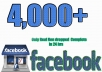 we provide 4,000 Facebook likes to increase your Fan Page rank.And also we deliver it within 24 hours.If you want more , you can contact us or check the Extra services.