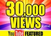 Get 30,000 High Quality and High Retention Fast Youtube views 