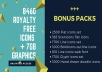 give 8460 Icons Pack And 7gb Graphics Collection