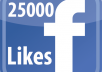 Give you Instant Fast 25,000 Facebook Photo,Post Likes
