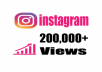 Add you Fast 200,000+ Instagram Videos Views