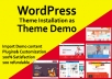 Install Wordpress Theme And Setup Exactly Like Demo