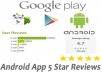 test & give an honest review your Android app on the Google Play store and my blog