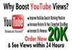 give your youtube video or channel link 20,000+ Human Unique Views