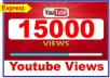 Add 15,000+ High Quality Youtube Views Fully safe Instant start