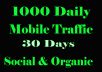 send 30,000 real mobile web traffic to your website