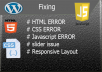 Fix HTML, CSS, JavaScript And Responsive Layout