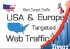 Provide 30,000 Social,Organic,Mobile Traffic Your Website for 30 days
