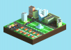create 3D model with isometric style