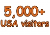 Drive 5k Super Targeted USA Traffic to your Website, Unique Visitors