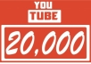 provide 20,000 youtube views, real, instant