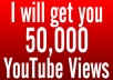 provide 50,000 50k youtube views, real, instant