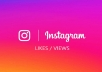 send you 1000 likes or view to your Instagram Post with Impressions