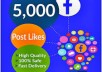 Give you Instant Fast 5,000 Facebook Photo,Post,Video Likes