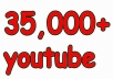 Give You High Quality 35,000+YOU TUBE views