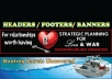 design HEADERS or footers or banners for ur website/wordpress