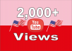 Give Real HQ 2,000+ USA YouTube Video Views