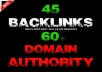 give 45 Backlinks from High DA-60+ Domains-Skyrocket your Google RANKINGS