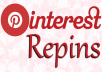 Add 400+ Pinterest Repins to boost your credibility and SE0