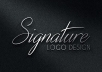 Make Signature Logo Design Within 24hrs