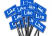 provide 5000 facebook post likes, real, permanent