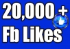 provide 20k facebook post likes