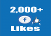 Give you Instant Fast 2,000 Facebook Photo,Post,Video Likes
