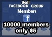give 5000 members for your favebook group