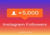 Provide 5000+ Instagram Followers, organic, permanent, real, high quality, safe