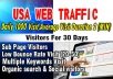 do 1000 USA web traffic us long visit 2 min for 30 days