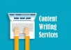 provide quality content writing