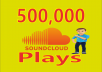 Give You Real Soundcloud 500k Music Tracks Plays