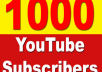 Add Non Drop 1000+ Youtube Subscribers - Safe, Instant Start