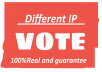 Provide 200 different IP votes, single ip votes for any contest