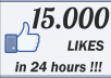 Give you Instant Fast 15k (15,000) Facebook Photo,Post,Video Likes