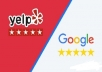 do google and yelp reviews