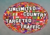 drive 10000 quality country targeted traffic to your website or blog.