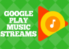 Now you don't need to pay huge amounts of cash for ads for your music on the online social networks, we offer you the most effortless approach to earn from your song (music), cause let's be realistic, 90% of the music uploaders on Google Play Music are people who want and need to benefit from their work, their music, however that is ok, we are giving you an opportunity to benefit from your uploaded music.  I make all of the streams manually one by one, 100% real and full plays. When the job is completed I will send you screenshots as proof, from beginning till the end of your ordered number of streams.  Note that it takes 3 - 5 business days for the streams to reflect on your dashboard.