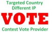 Give you 250 Targeted Country IP Poll Votes