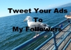Tweet your Ad on Twitter to 450,000 Followers