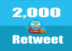 Give you Instant 2,000+ UK Twitter retweets