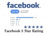give 50 Facebook Fanpage five star positive review votes for your fanpage